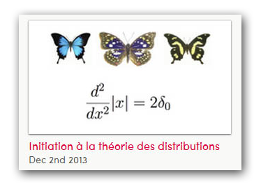 Initiation à la théorie des distributions